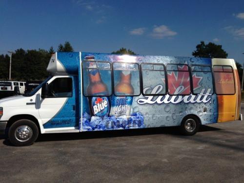 Labatt Blue Limo Bus