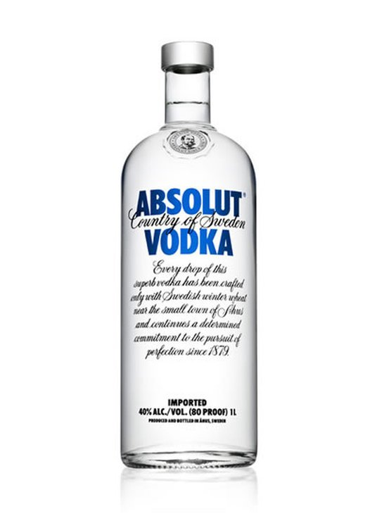 Absolut Vodka 80 Proof 1L