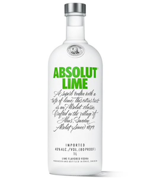 Absolut Lime Vodka 1L
