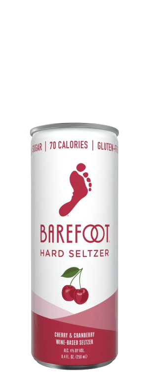 Barefoot Hard Seltzer Cherry & Cranberry 4Pk of 250ml Cans