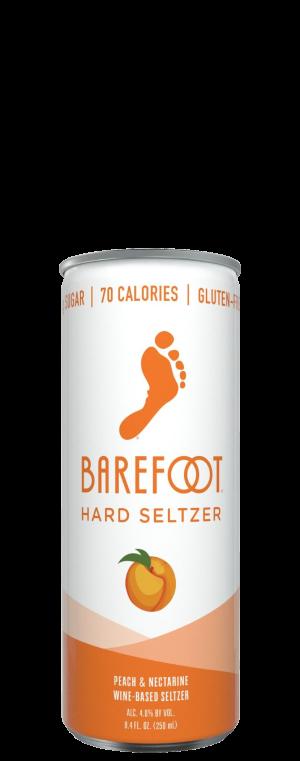 Barefoot Hard Seltzer Peach & Nectarine 4Pk of 250ml Cans
