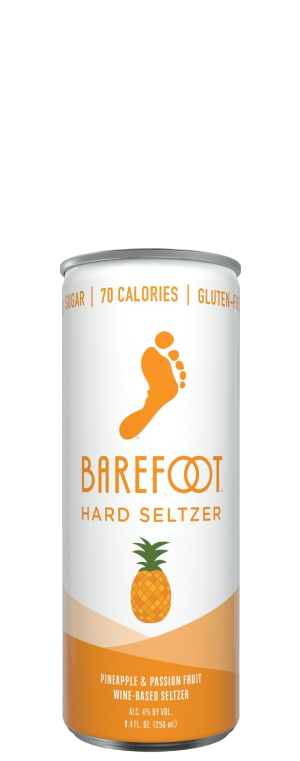 Barefoot Hard Seltzer Pineapple & Passion Fruit 4Pk of 250ml Cans