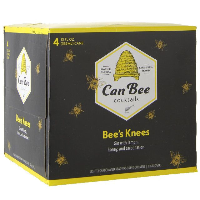 Can Bee Cocktails Bee's Knees 4Pk-355ml Cans