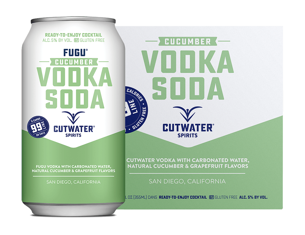 Cutwater Cucumber Vodka Soda 4pk 355ml Cans