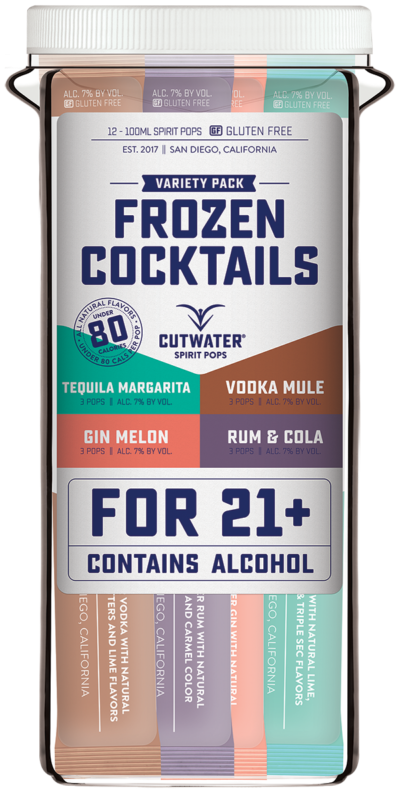 Cutwater Freeze Spirit Pops Frozen Cocktails 12Pk-100ml