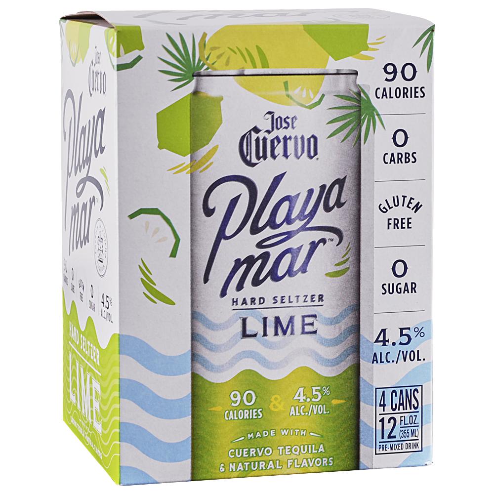 Jose Cuervo Playa Mar Lime Seltzer 4Pk - 12oz Cans