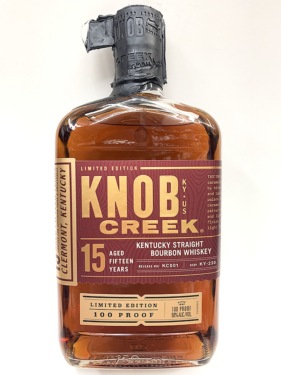 Knob Creek 15Yr 100 Proof Limited Release Bourbon 750ml