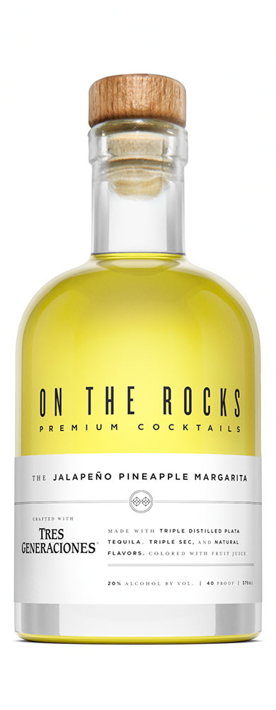 On The Rocks Jalapeno/Pineapple Margarita made with Tres Generaciones Tequila 375ml