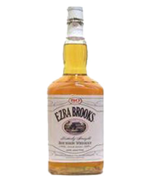 Ezra Brooks 80 Proof Bourbon White Label 1.75L