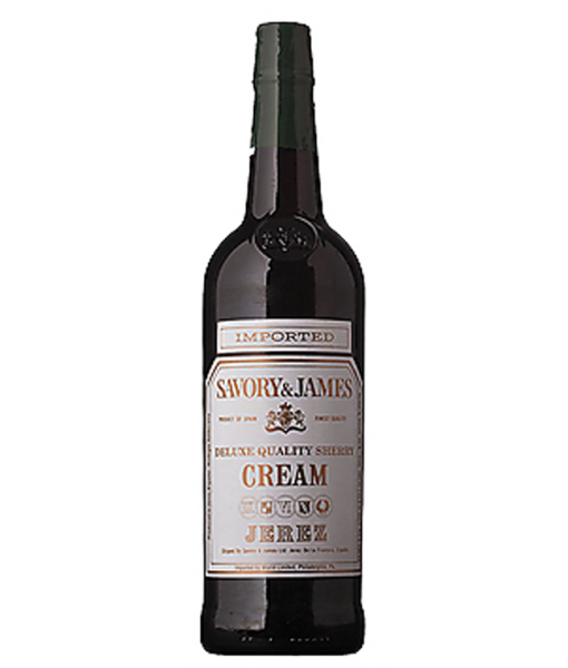 Savory & James Cream Sherry 750ml NV