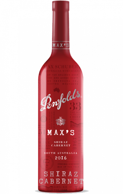 2016 Penfolds Max's Shiraz-Cabernet 750ml