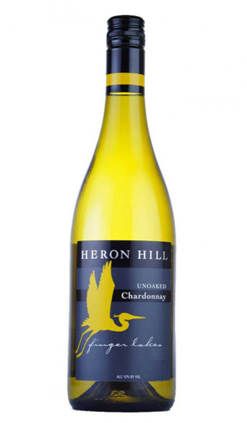 2018 Heron Hill Unoaked Chardonnay 750Ml