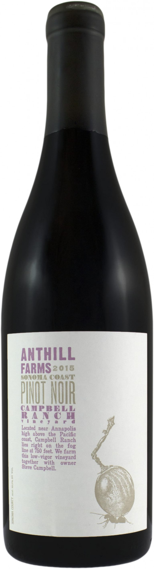 2015 Anthill Farms Sonoma Pinot Noir 750ml