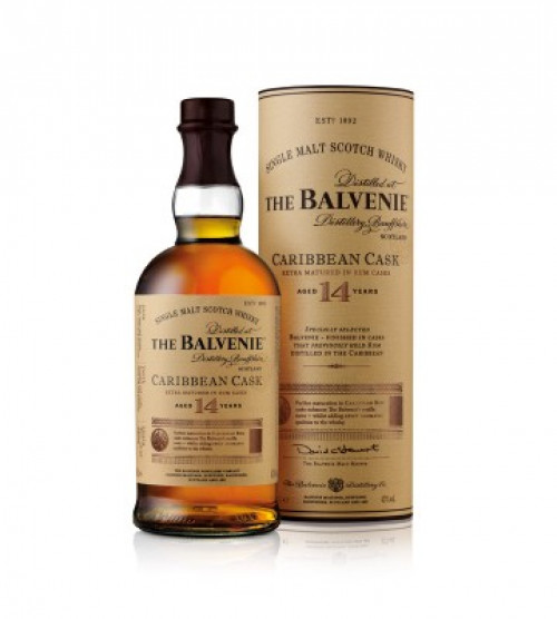 Balvenie 14Yr Caribbean Cask Single Malt Scotch 750ml