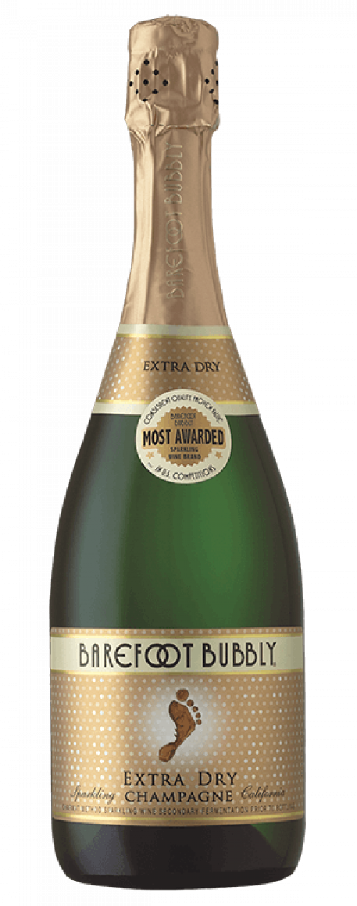 Barefoot Bubbly Extra Dry Champagne 750ml NV