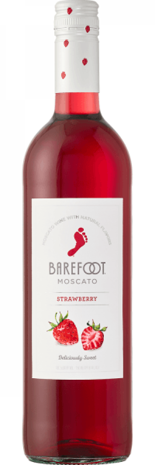 Barefoot Strawberry Moscato 750ml NV