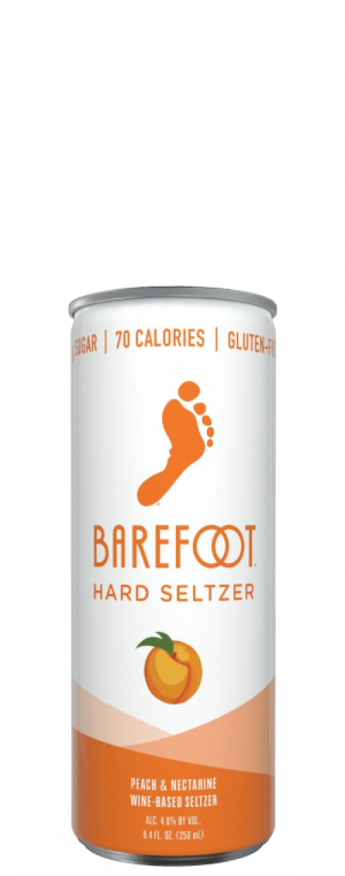 Barefoot Hard Seltzer Peach & Nectarine 4Pk of 250ml Cans