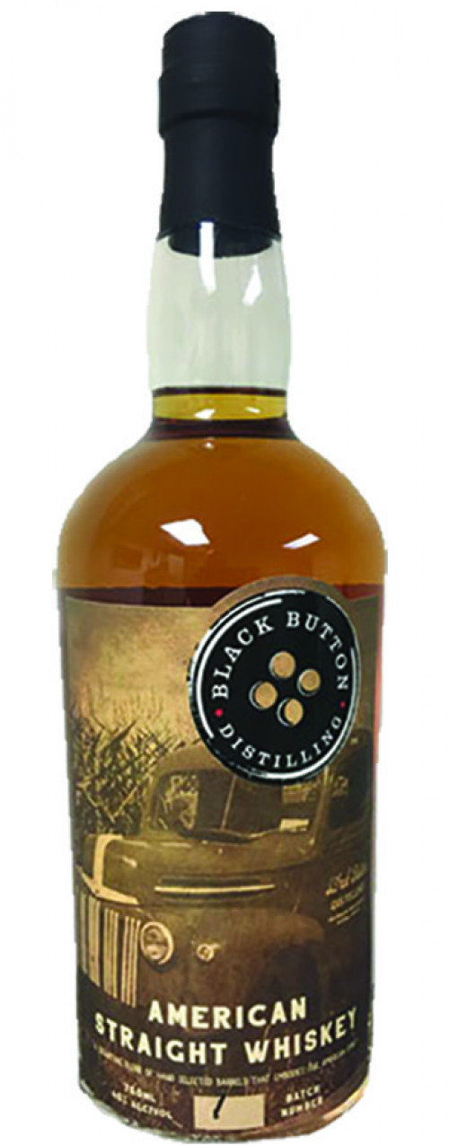 Black Button American Straight Whiskey 750ml