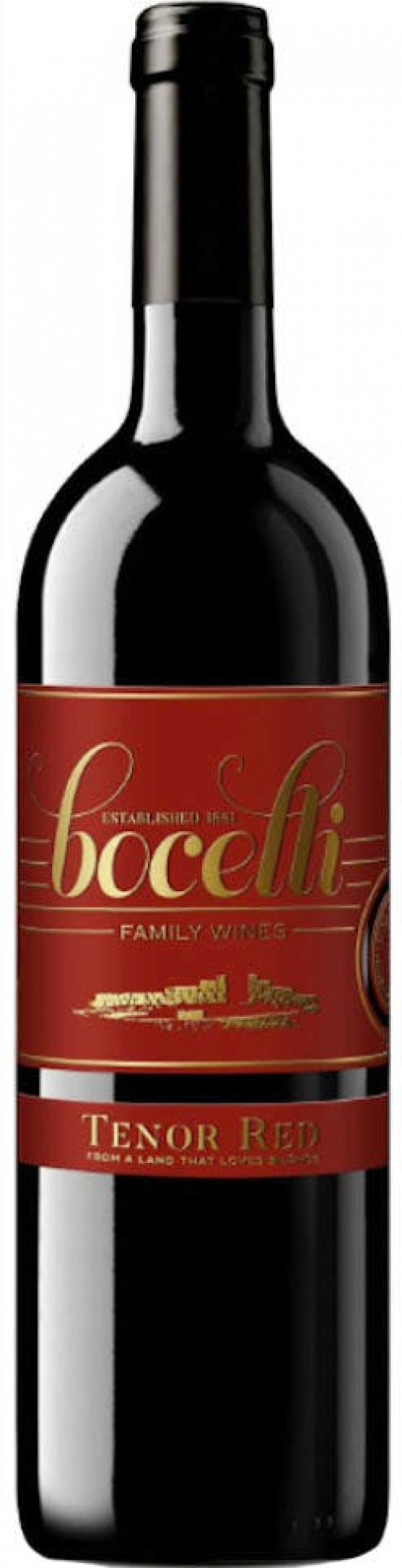 2016 Bocelli Tenor Red 750Ml