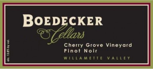2012 Boedecker Cherry Grove Pinot Noir 750Ml