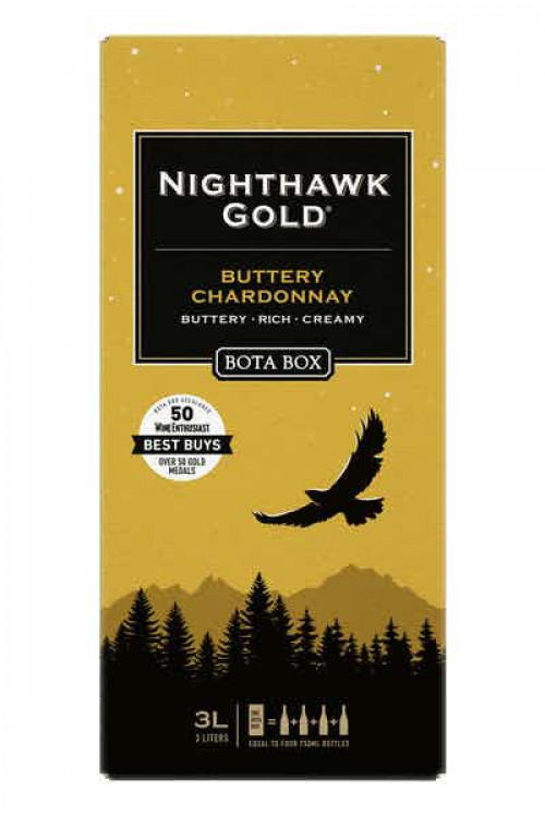 Bota Box Nighthawk Gold Chardonnay 3L NV