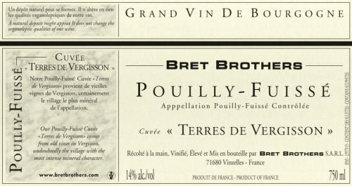 2015 Bret Brothers Pouilly-Fuissé Cuvée Terre de Vergisson 750Ml
