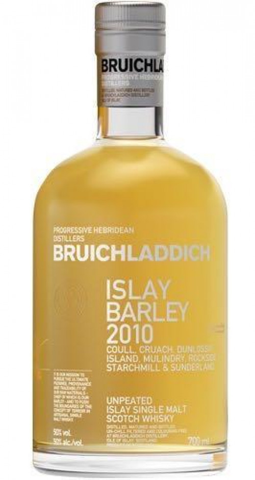 Bruichladdich Islay Barley Unpeated 2010 Scotch 750ml