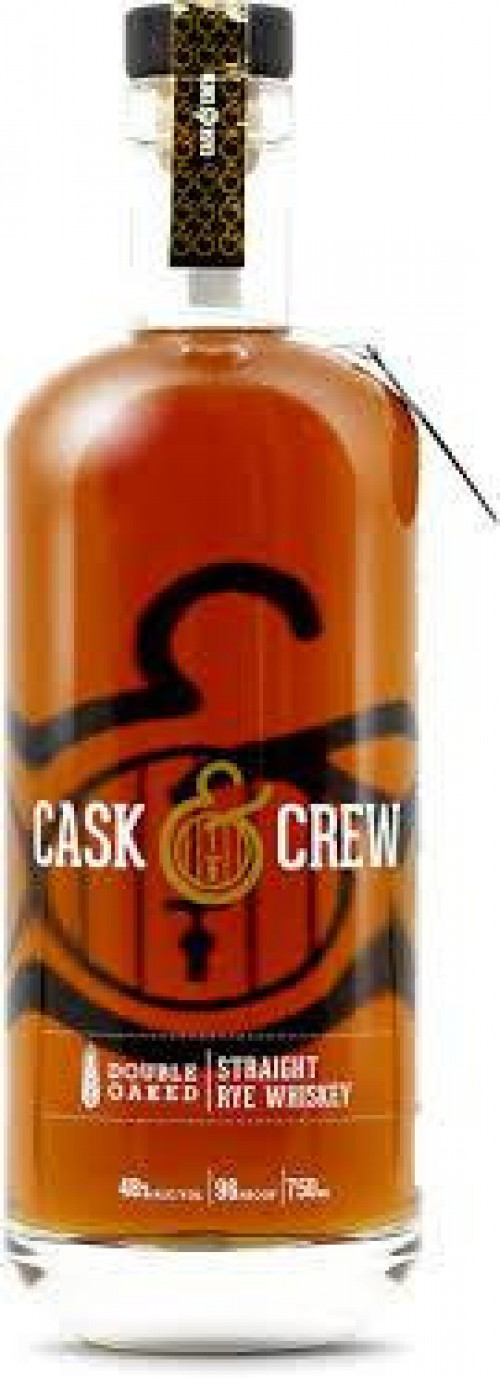 Cask & Crew Double Oaked Straight Rye Whiskey 750ml