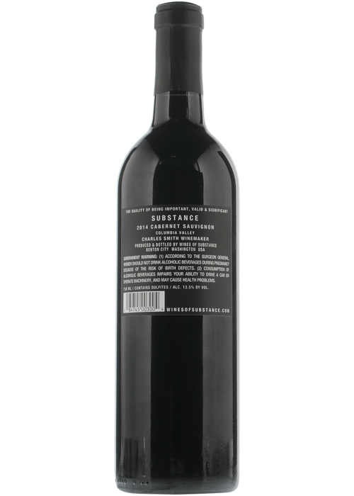 2018 Charles Smith Substance Cabernet Sauvignon 750ml
