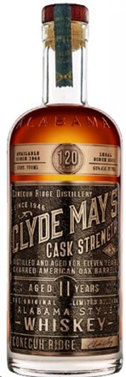 Clyde Mays Cask Strength 11Yr Alabama Style Whiskey 750ml