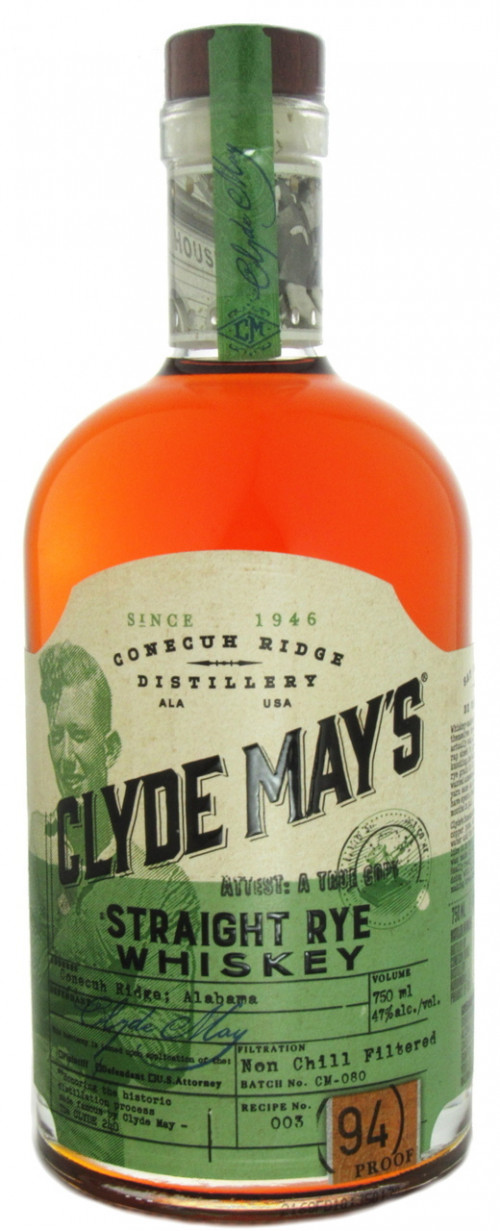 Clyde Mays Straight Rye Whiskey 750ml