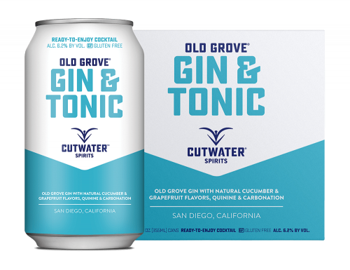 Cutwater Gin & Tonic 4Pk 355ml Cans