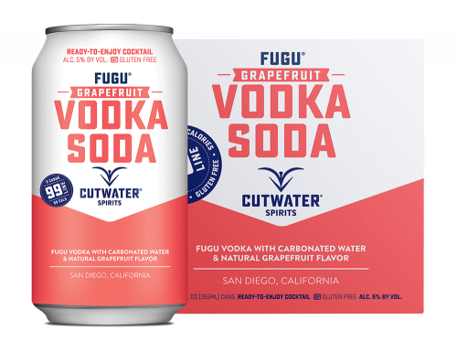 Cutwater Grapefruit Vodka Soda 4Pk 355ml Cans