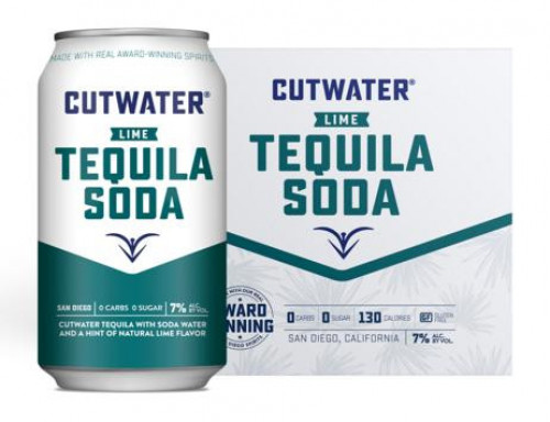 Cutwater Tequila Soda Lime 4Pk - 355ml