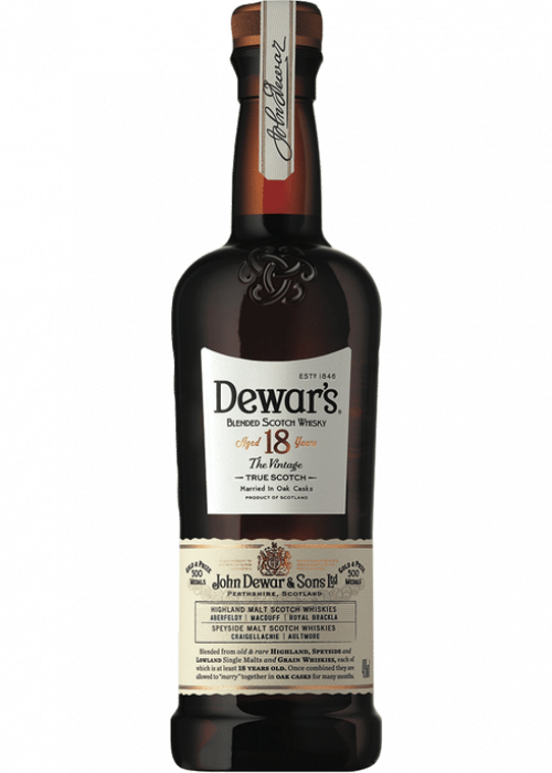 Dewars 18Yr Blended Scotch Whisky 750Ml