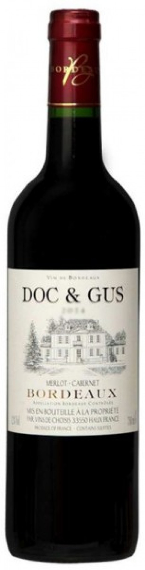 2017 Doc & Gus Red Bordeaux 750ml