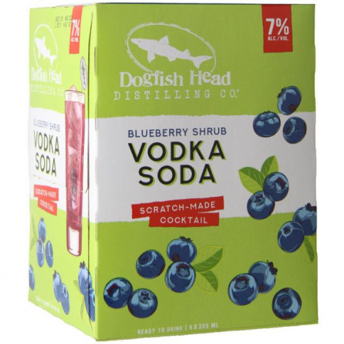 Dogfish Head Blueberry Shrub Vodka Soda 4Pk-355ml Cans