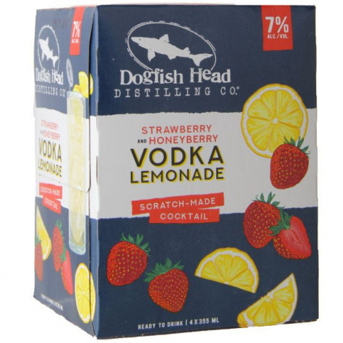 Dogfish Head Strawberry & Honeyberry Vodka Lemonade 4Pk-355ml Cans
