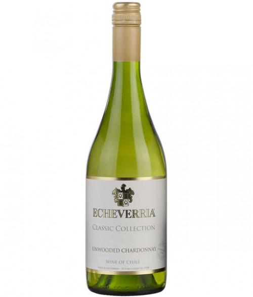 2018 Echeverria Unwooded Chardonnay 750ml