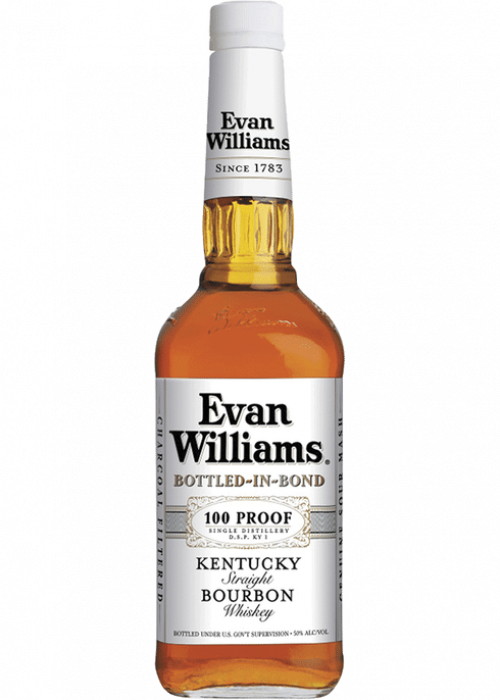 Evan Williams White Label 100 Proof Bottled In Bond Bourbon 1L