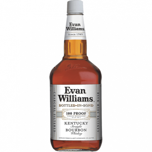 Evan Williams White Label 100 Proof Bottled In Bond Bourbon 1.75L