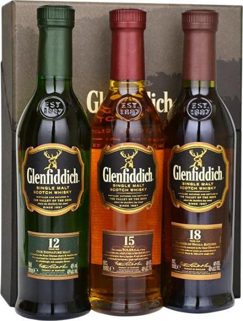 Glenfiddich 3 Bottle Gift Pack 200ml/each