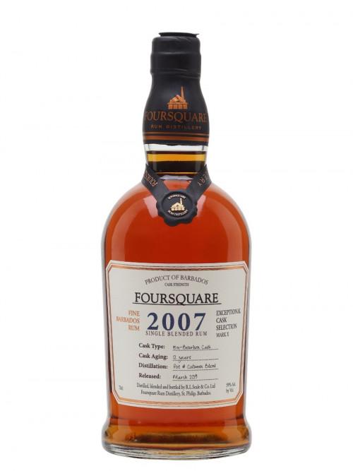 "2007 Foursquare Rum 12Yr old ""Ex-Bourbon Cask"" 750ml"