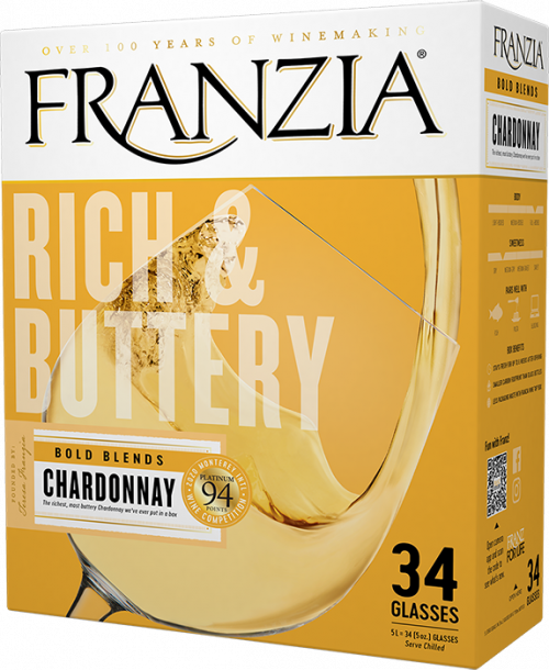 Franzia Buttery Chardonnay 5L Box Wine