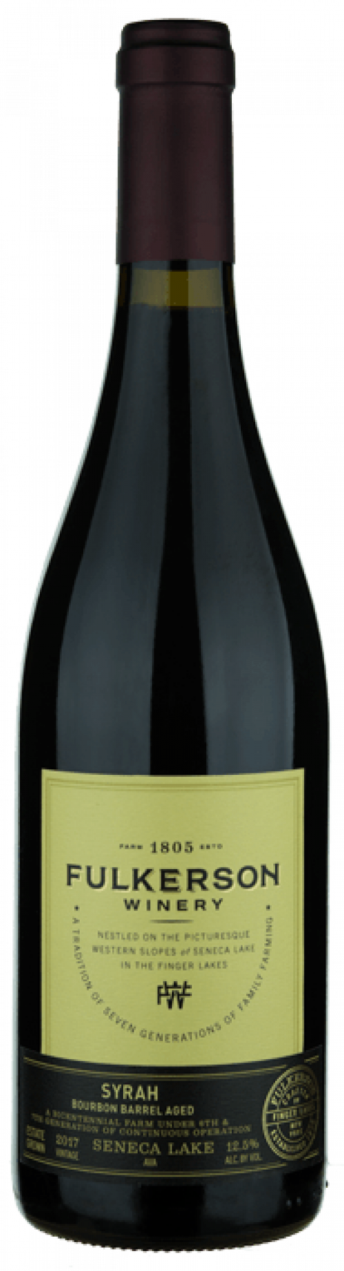 2018 Fulkerson Bourbon Barrel Aged Syrah 750ml