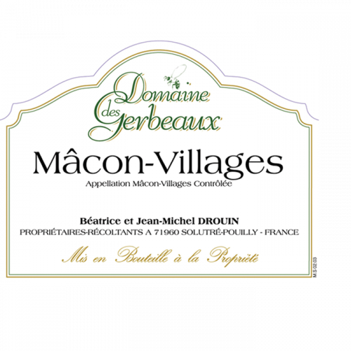 2018 Domaine Des Gerbeaux Macon-Villages 750Ml