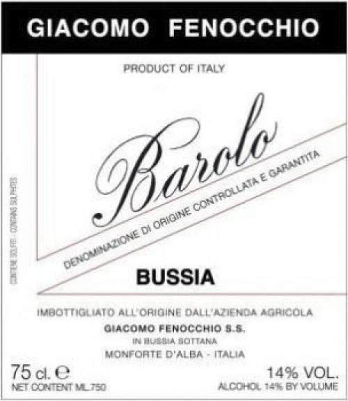Fenocchio Bussia Barolo 750ml