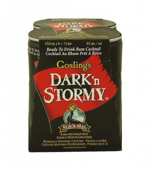 Goslings Dark & Stormy 4Pk-250ml Cans
