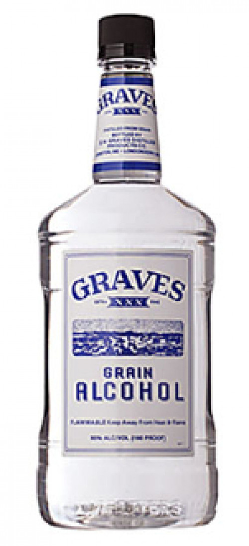 Graves Grain Alcohol 190 Proof 1.75L