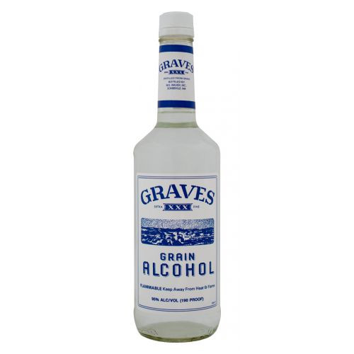 Graves Grain Alcohol 190 Proof 1L